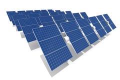 Solar power plant. Isolated on white background Stock Images