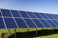 Solar power plant Stock Images