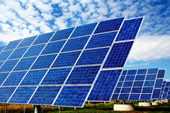 Solar power plant Royalty Free Stock Image