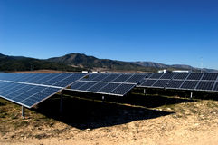 Solar power plant stock photography