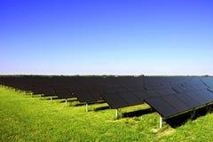 Solar power plant. Photovoltaics system stock photo