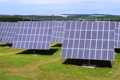Solar power plant. Photovoltaic panels royalty free stock images