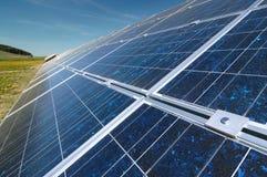 Solar power plant. Photovoltaic panels royalty free stock photos