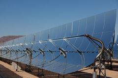 A solar power plant in the California Desert Stock Photography
