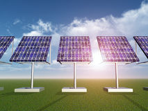 Solar Power Plant Royalty Free Stock Images