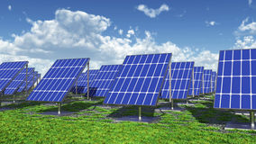 Solar power plant. Computer generated 3D illustration with a solar power plant Royalty Free Stock Photography