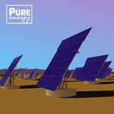 Solar power plant. Eco saving technology Stock Image