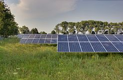 Solar Power Plant HDR Stock Images