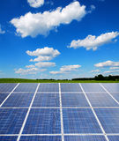 Solar power plant in the landscape Stock Photo