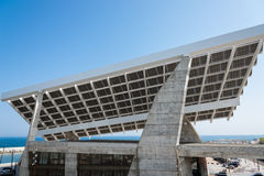 Solar Power Plant In the north of Barcelona Royalty Free Stock Image