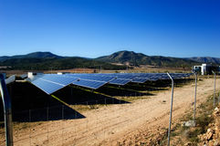 Solar power plant - Solar energy Royalty Free Stock Image