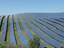 Solar power plant south of france, puimichel, provence Stock Photo