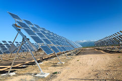 Solar power plant in Spain Royalty Free Stock Photo