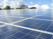 Solar Power Plant at a sunny Place Stock Photography