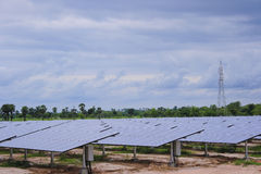 Solar power plant under construction Thailand Royalty Free Stock Images