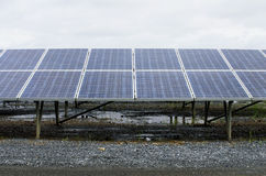 Solar power plant using renewable Stock Image