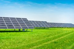 Solar power plant using renewable energy from the Sun. Ecological solar power plant using renewable energy from the Sun Stock Photography
