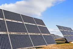 Solar power plant using renewable  energy with sun Royalty Free Stock Photo