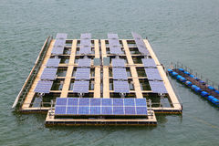 Solar power. Solar power plant in the water Royalty Free Stock Photos