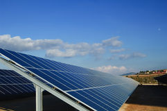 Solar power plants. Solar power plant. Solar panels in south of Spain Royalty Free Stock Photography