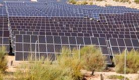 Solar power polar panel system Stock Photos