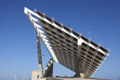 Solar Power at Port Forum Barcelona Stock Image