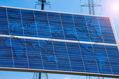 A solar power powered world Royalty Free Stock Photos