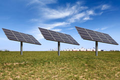 Solar power on the prairie Royalty Free Stock Image