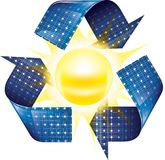 Solar power. Renewable energy concept with use of solar power Stock Illustration