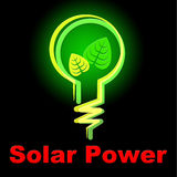 Solar Power Represents Alternative Energy And Countryside Stock Images