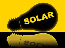 Solar Power Represents Energy Source And Electricity Stock Photos