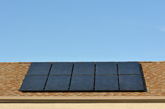 Solar Power Roof Stock Images