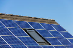 Solar power roof Royalty Free Stock Image