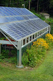 Solar Power Shed. Photovoltaic panels (solar cells), Greenfield, Massachusetts Stock Photos