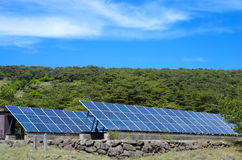 Solar power and sky Stock Photography