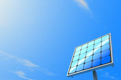Solar power / Solar panels. 3DCG illustration of solar power Royalty Free Stock Image