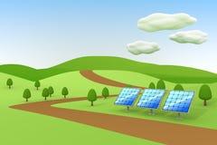 Solar power / Solar panels. 3DCG illustration of solar power Stock Photos
