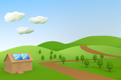 Solar power / Solar panels. 3DCG illustration of solar power Royalty Free Stock Photography