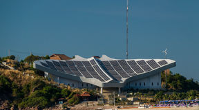 Solar power station in к��о�ной to a zone on island To Lan in Pattaya Stock Image