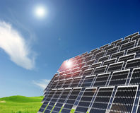 Solar power station royalty free stock photo