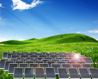 Solar power station Royalty Free Stock Photos
