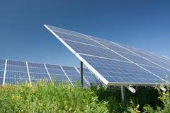 Solar power station. Alternative energy royalty free stock image
