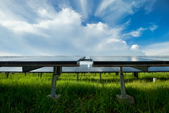 Solar power station. In blue sky royalty free stock photo