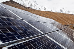 Solar Power Station. In Himalaya Mountains, Nepal Royalty Free Stock Images