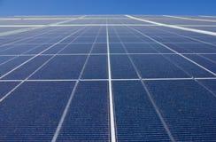 Solar Power Station. Solar panel close up against a blue sky Stock Photos
