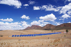 Solar Power Station. An array of solar panels making up South Australia's largest Solar Power Station. Situated in the Flinders Ranges Royalty Free Stock Photos