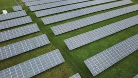 Solar power station stock video footage