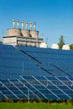 Solar Power Station And Factory Royalty Free Stock Photo