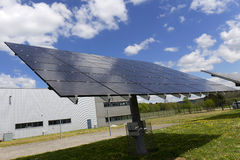 Solar Power Station in the early spring Nature Stock Photography