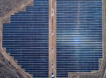 Solar power station. Green electricity panel view stock photos